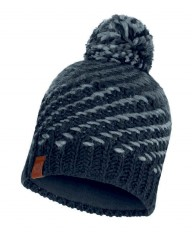 Шапка Buff KNITTED & POLAR HAT NELLA GRAPHITE (US:one size)